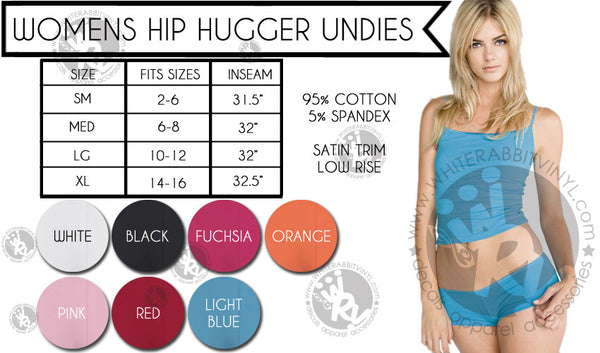 Harry Potter Mischief Managed Hip Hugger Undies