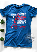 Load image into Gallery viewer, Home of The Free Because of The Brave 1776 [ CUSTOMIZABLE ] TShirt