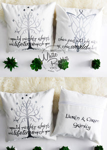 LOTR Arwen & Aragorn Inspired Pillow Case Set