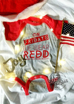 Load image into Gallery viewer, On Fridays We Wear REDD Short Sleeve Bodysuit