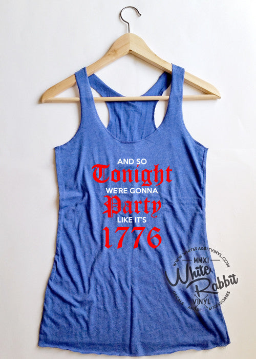 Party Like It's 1776 Women's Tank Top