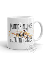 Load image into Gallery viewer, Pumpkin Pies and Autumn Skies Mug