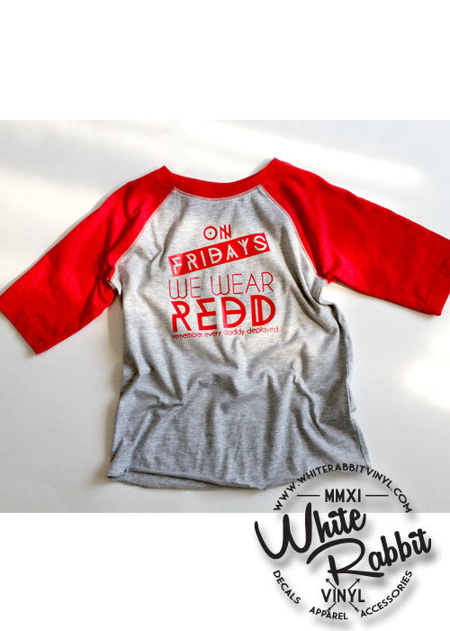 On Fridays We Wear REDD Toddler Baseball Tee