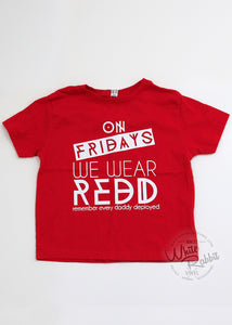 RTS_REDD Friday Toddler Tee