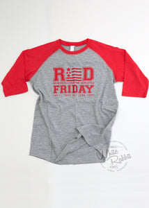 RTS_RED Friday Youth Baseball Tee