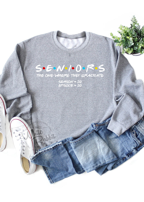 Seniors The One Where They Graduate Class of 2020 Unisex Crewneck Sweater