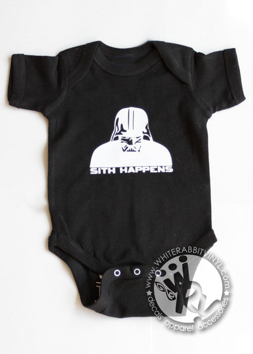 Sith Happens Welcome To The Dark Side Infant Short-Sleeve Onesie