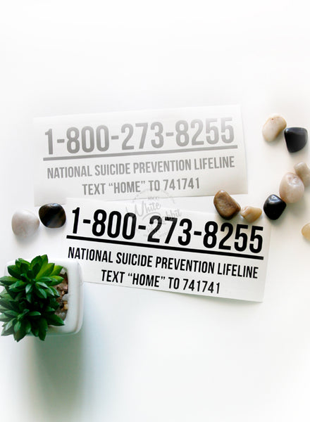 National Suicide Prevention Lifeline Decal