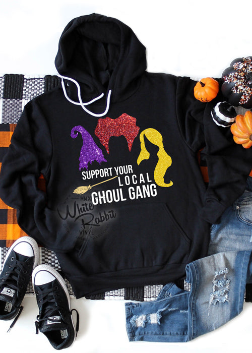 Support Your Local Ghoul Gang Unisex Pullover Hoodie