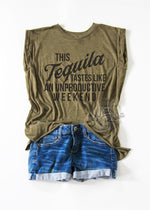Load image into Gallery viewer, This Tequila Tastes Like An Unproductive Weekend Ladies' Muscle Tee
