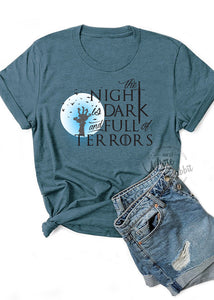 The Night is Dark and Full of Terrors Short-Sleeve Unisex T-Shirt