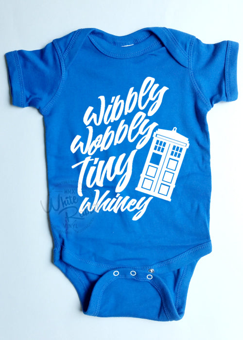 Wibbly Wobbly Tiny Whiny Doctor Who Infant Bodysuit