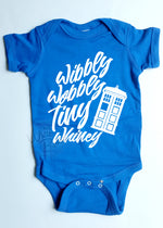Load image into Gallery viewer, Wibbly Wobbly Tiny Whiny Doctor Who Infant Bodysuit