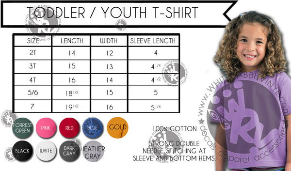 On Fridays We Wear REDD Toddler-Youth TShirt