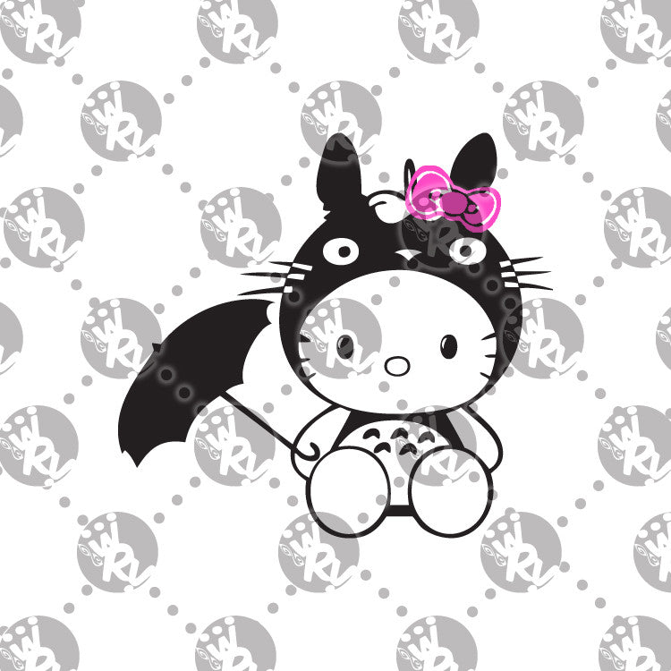 Totoro Hello Kitty Decal