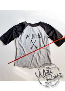 Wildling Game Of Thrones inspired Toddler Kid's Baseball Tee Shirt