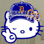 Load image into Gallery viewer, Winking Hello Kitty with Baseball Cap Decal [Different Styles Available]