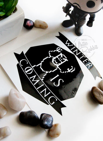 Winter Is Coming Decal