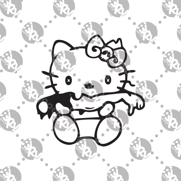 Zombie Hello Kitty Decal