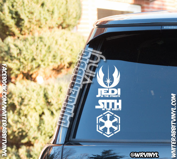 Jedi In The Streets Sith In The Sheets Decal