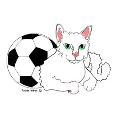 Kitty with Soccer Ball by Soccer-Views and Karen Little