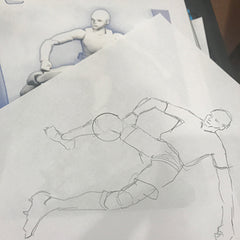 Tracing an image of a manikin