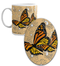 Load image into Gallery viewer, Monarchs and Daisies Mug
