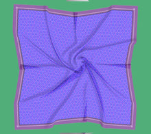 Load image into Gallery viewer, Blue Purple Print Square Scarf
