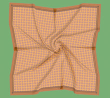 Load image into Gallery viewer, Orange Swirls Square Scarf