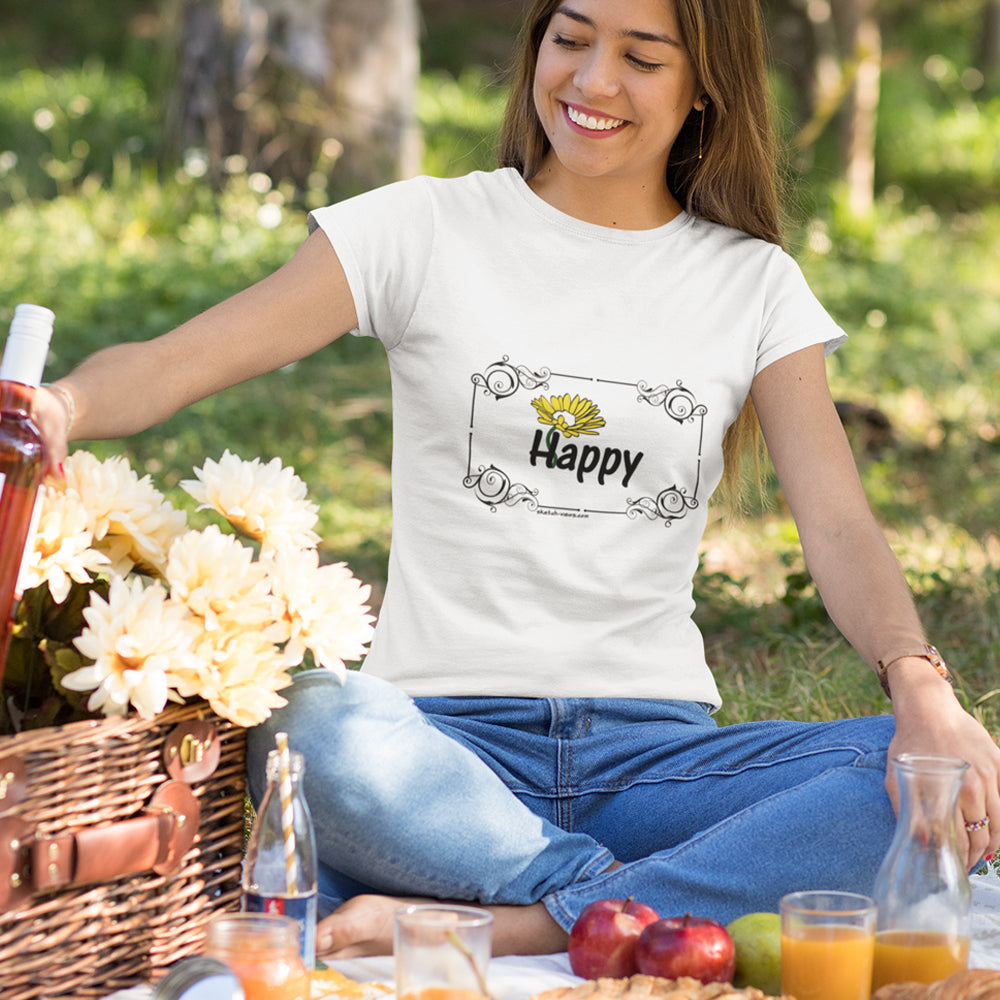 Simple Tees - HAPPY