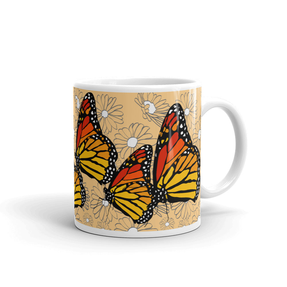 Monarchs and Daisies Mug