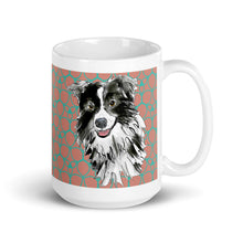 Load image into Gallery viewer, Mark Leder Mug - green trim