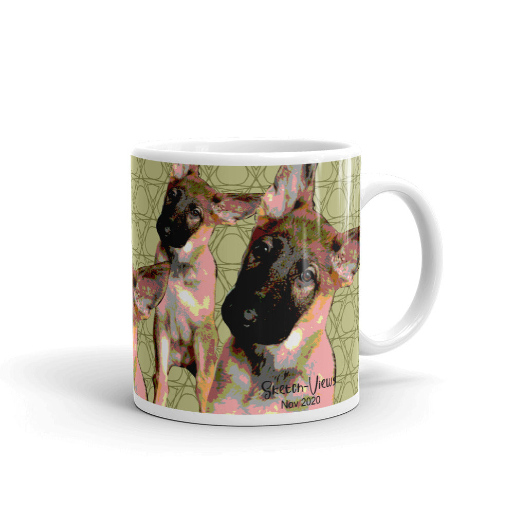 German Shepherds - Pet Portrait Mug