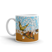 Load image into Gallery viewer, White garden and Butterfly mug