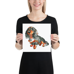 Your Pup on a Square Poster