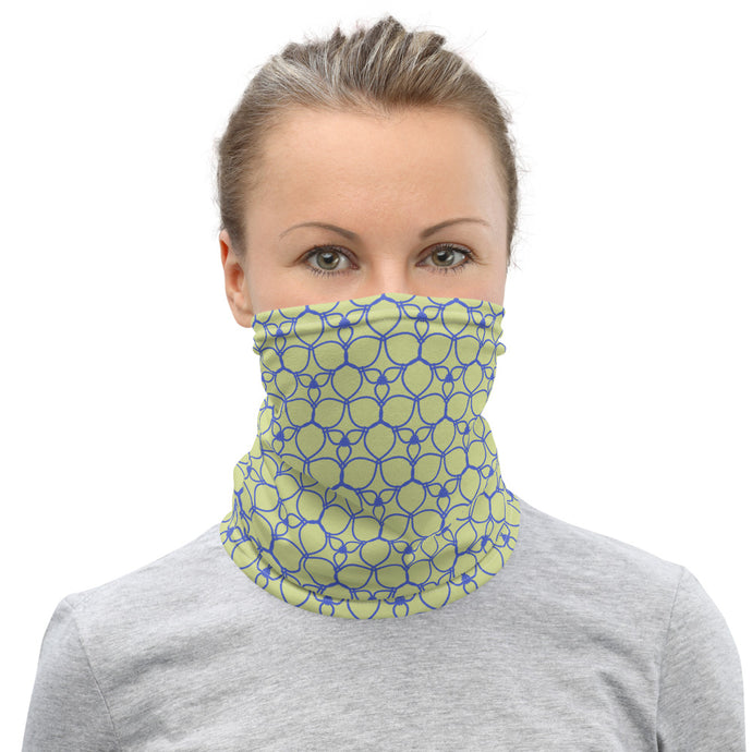 Blue Leaves Neck Gaiter
