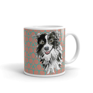 Mark Leder Mug - green trim