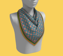 Load image into Gallery viewer, Vivid Multi-colored Square Scarf