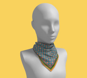 Vivid Multi-colored Square Scarf