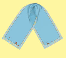 Load image into Gallery viewer, Butterflies, Flowers and Blue Sky Rectangular Scarf