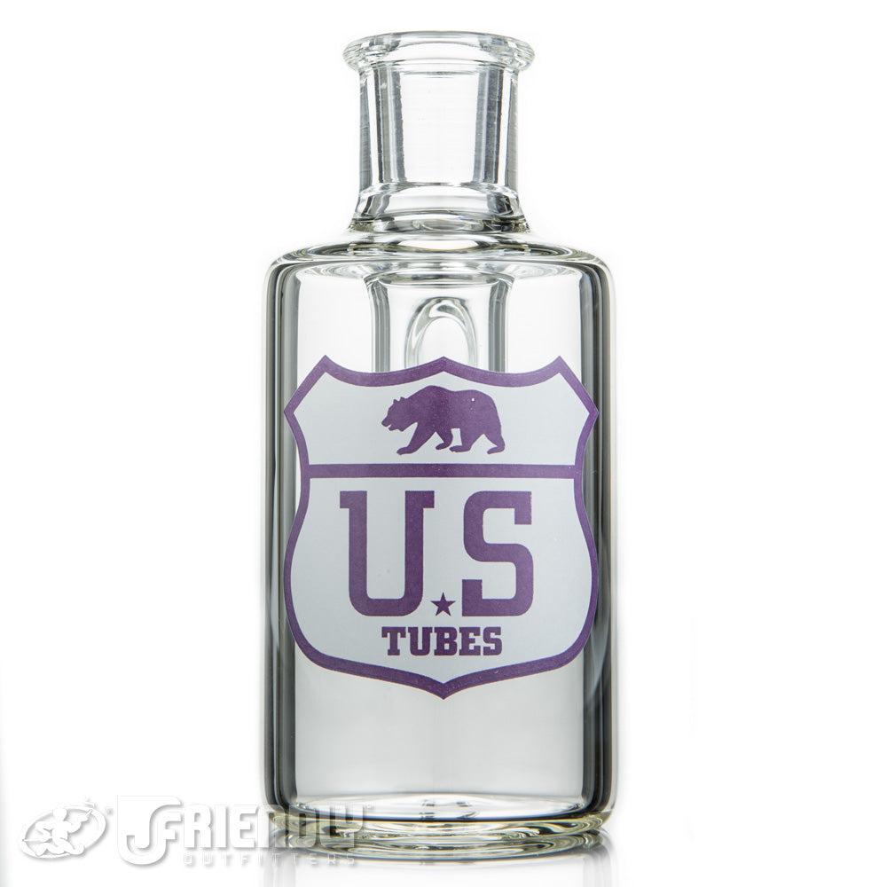 US Tubes 45 Degree 14mm Dry Catcher w/Purple and White Label