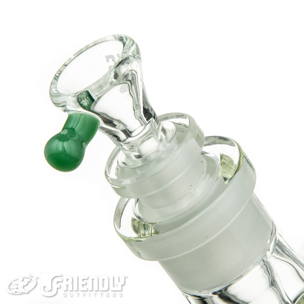 "US Tubes 17"" Beaker 55 w/Green Accents and 24mm Joint"