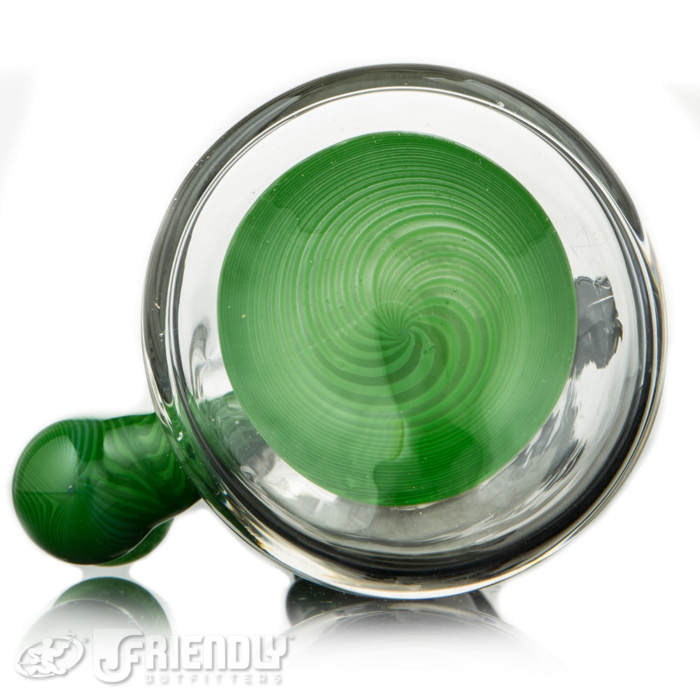 Aaron U Glass 14mm Grey and Green Gator Jammer