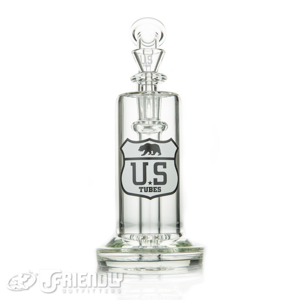 US Tubes Showerhead Bubbler w/Black and White Label