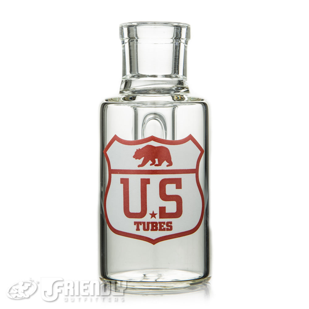US Tubes 18mm 45 Degree Dry Catcher w/Red and White Logo