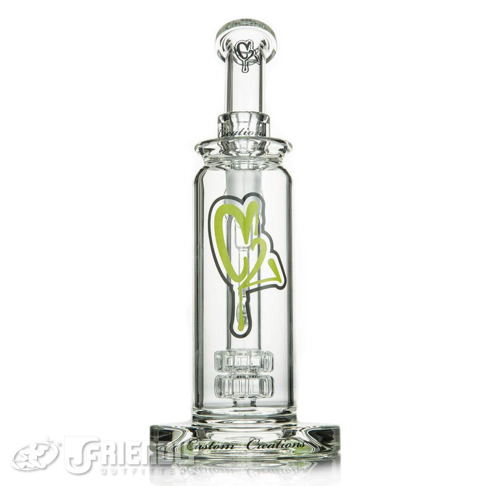 C2 Custom Creations 50mm Double Showerhead Bub w/ Green Logo