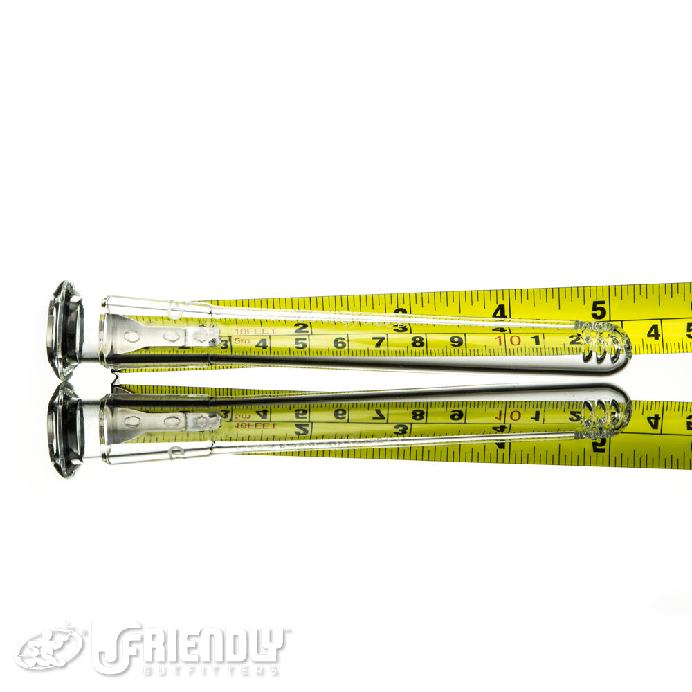 "Mobius Glass 5"" Feather Diffuser Downstem"