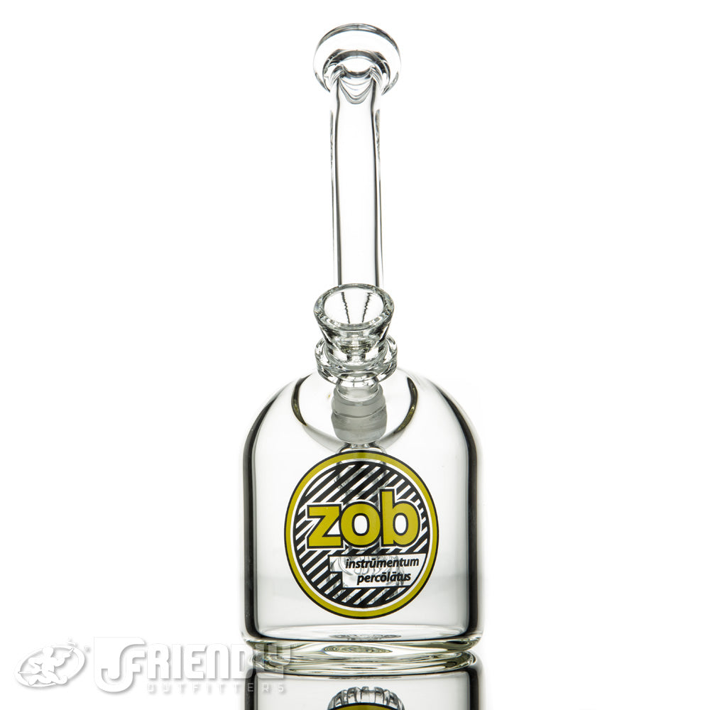ZOB Glass Black and Yellow Label Dewar Seal Bubbler