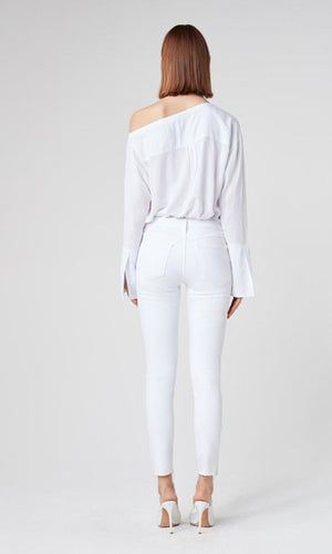 W2 Skinny Crop White
