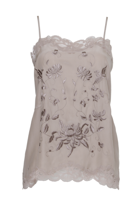 Emly Embroidery Cami Sand Shell